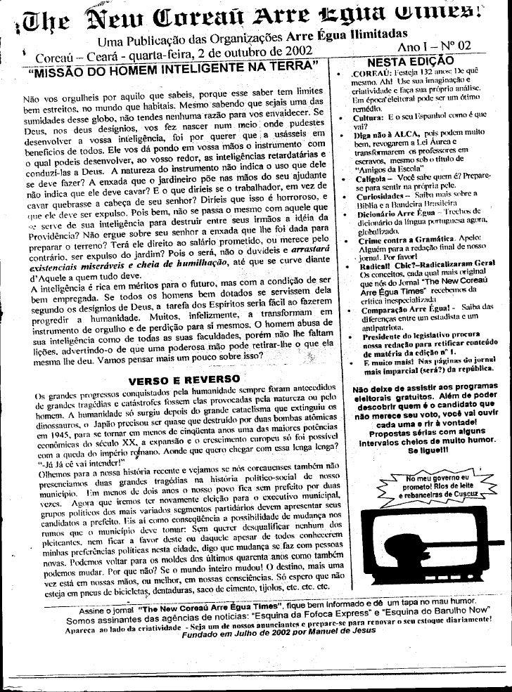 Arre egua número 02 outubro de 2002