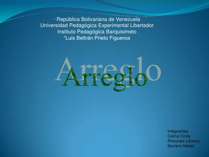 """ República Bolivariana de Venezuela<br />Universidad Pedagógica Experimental Libertador<br />Instituto Pedagógica Barquis..."