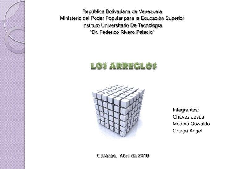 República Bolivariana de Venezuela<br />Ministerio del Poder Popular para la Educación Superior<br />Instituto Universitar...