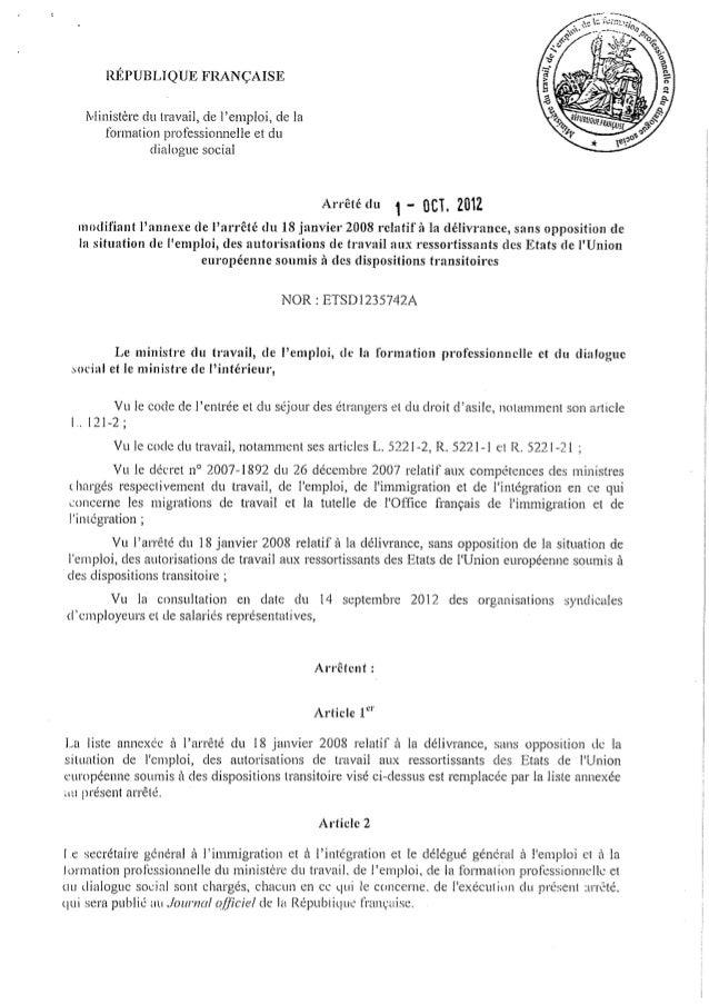 Liste des 291 métiers ouverts aux ressortissants roumains et bulgares
