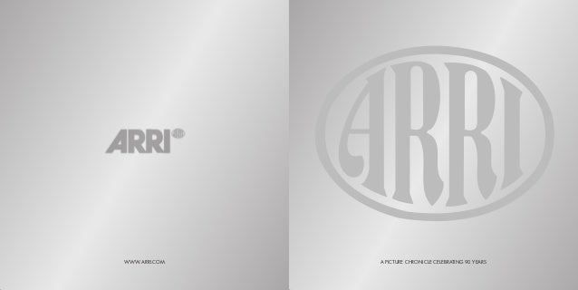 Arri 90th anniversary_book