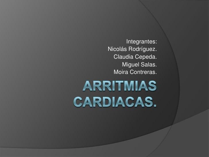 Integrantes:Nicolás Rodríguez.  Claudia Cepeda.     Miguel Salas.  Moira Contreras.