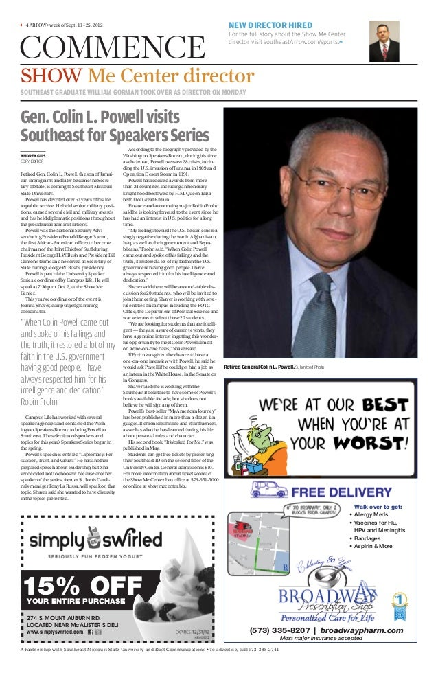 Colin Powell visits Southeast for Speakers Series