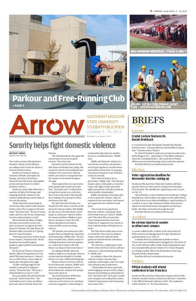 1 ARROW • week of Oct. 3 - 16, 2012                                                                                     ...