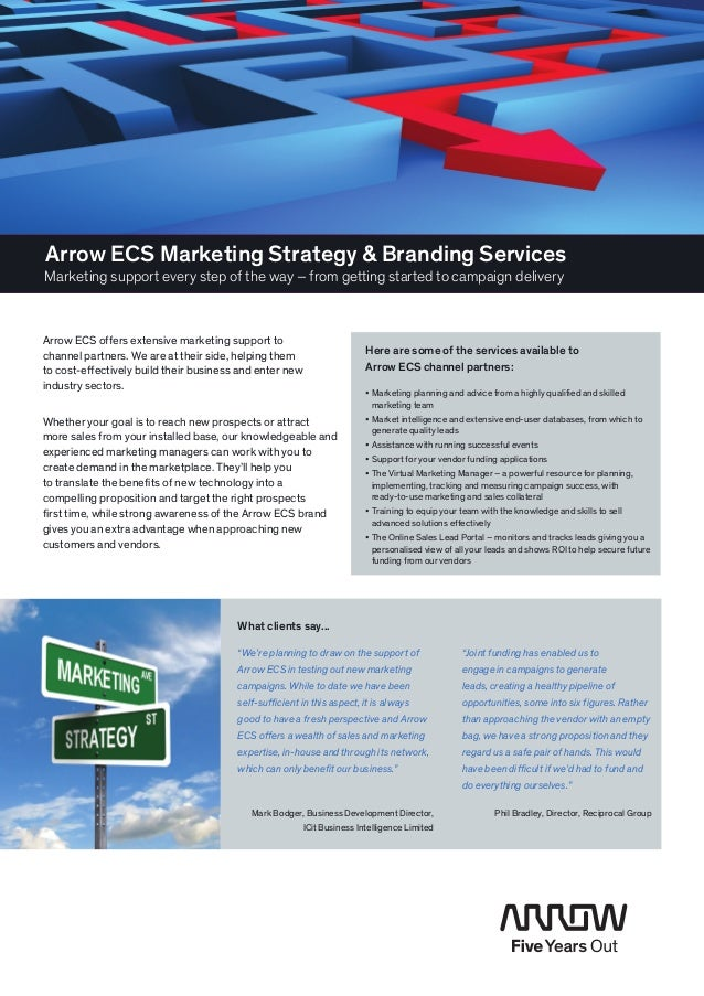 Arrow ECS Marketing Strategy & Branding ServicesMarketing support every step of the way – from getting started to campaign...