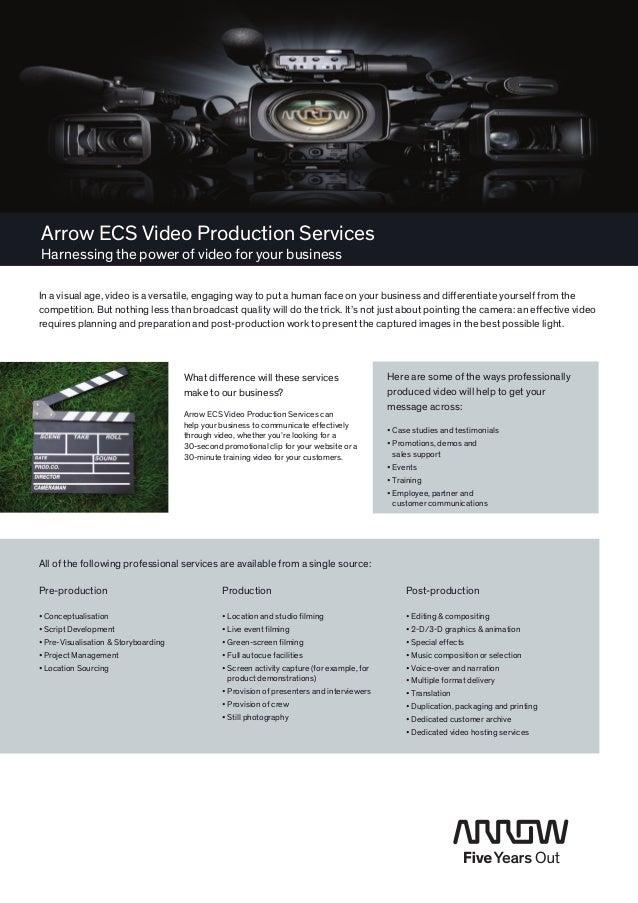 Arrow ECS Video Production Services
