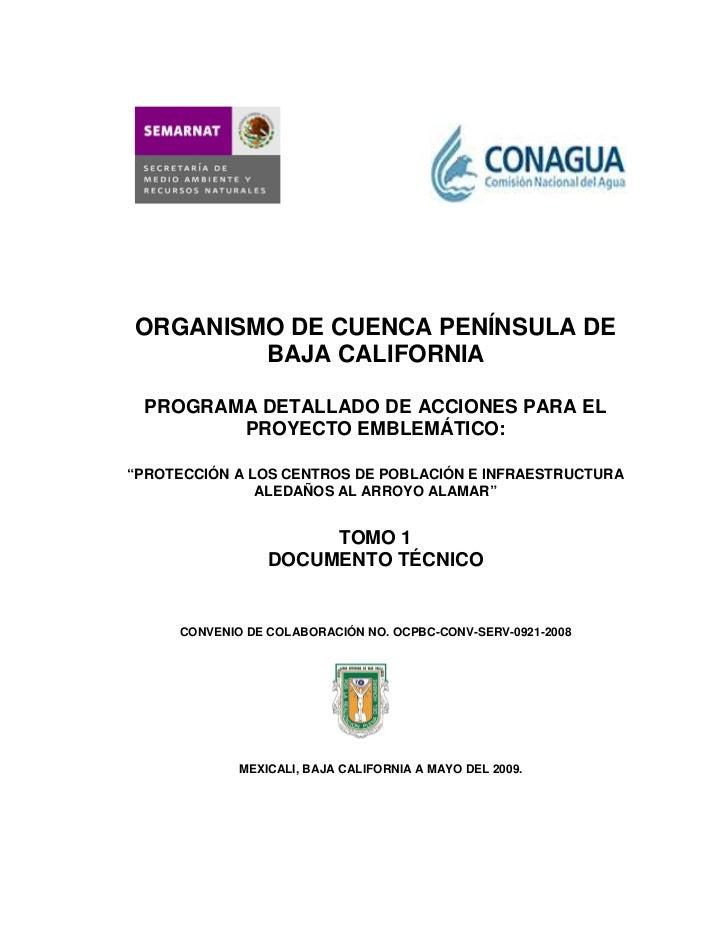 ORGANISMO DE CUENCA PENÍNSULA DE        BAJA CALIFORNIA PROGRAMA DETALLADO DE ACCIONES PARA EL        PROYECTO EMBLEMÁTICO...