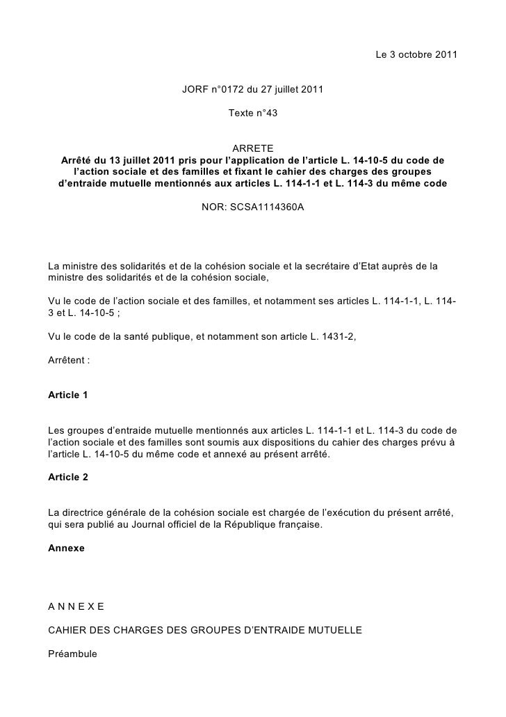Le 3 octobre 2011                              JORF n°0172 du 27 juillet 2011                                         Text...
