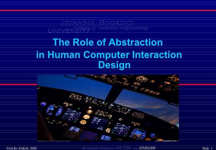 AR+S   The Role Of Abstraction In Human Computer Interaction