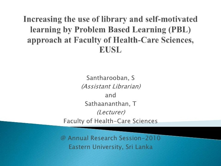 Santharooban, S      (Assistant Librarian)             and       Sathaananthan, T           (Lecturer)Faculty of Health-Ca...
