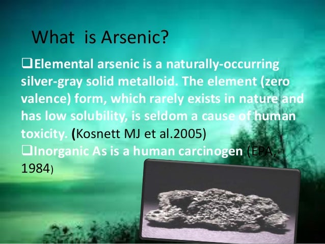 Natural Treatment For Arsenic Poisoning