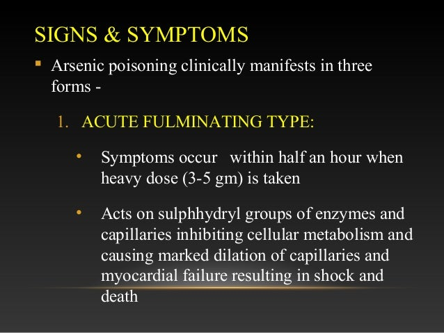 What are the Symptoms of Arsenic Poisoning? (with pictures)