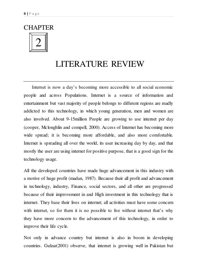 LITERATURE REVIEW OF WEB AND E-MAIL SURVEYS