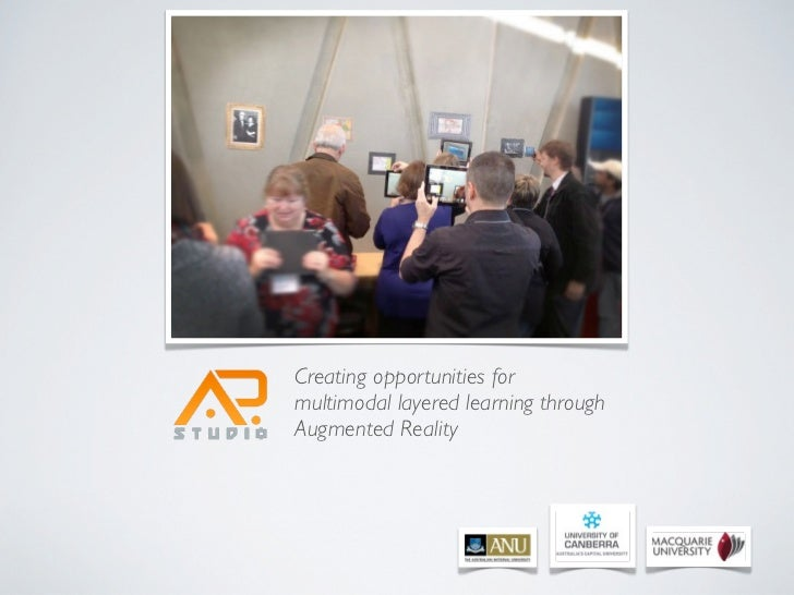 Creating opportunities formultimodal layered learning throughAugmented Reality