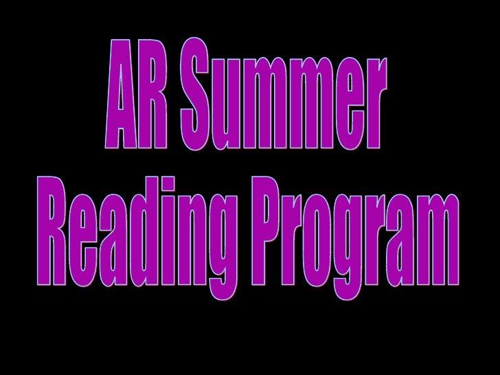 AR Summer Reading Program