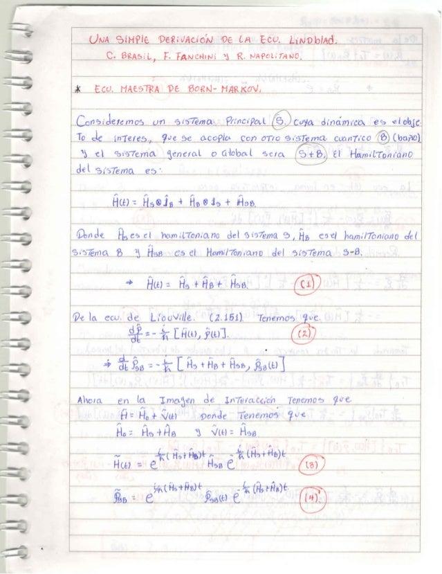 ecuacion de Lindbland