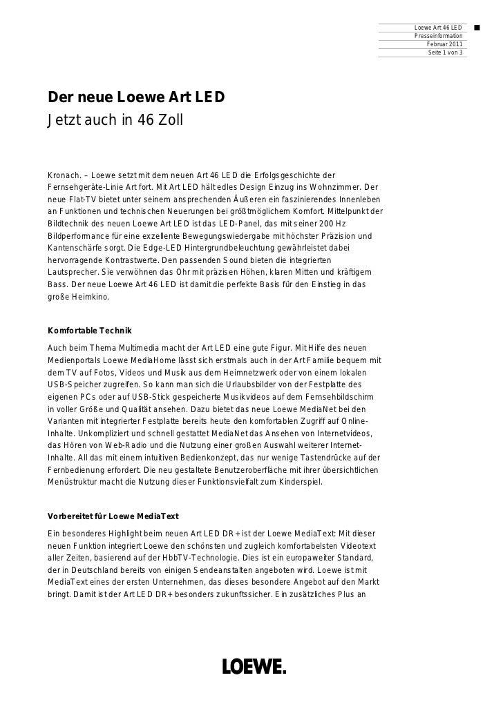 Loewe Art 46 LED                                                                                           Presseinformati...
