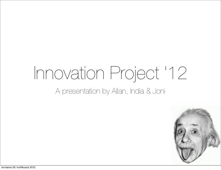 ART - Innovation Project  '12