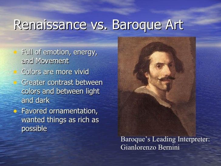 comparison contrast renaisssance and baroque The differences between the two can more or less be summed up in terms   baroque colors were bold, contrasting the rococo was a gentler.