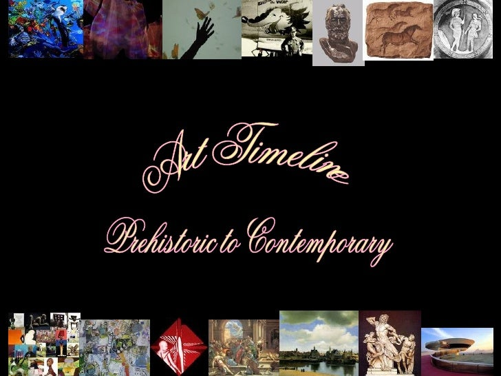 Art Timeline Prehistoric to Contemporary