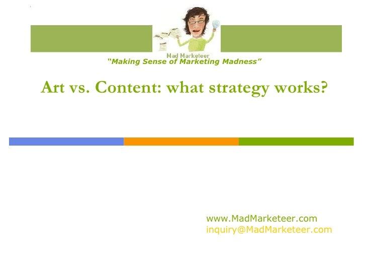 Art Vs Content Presentation