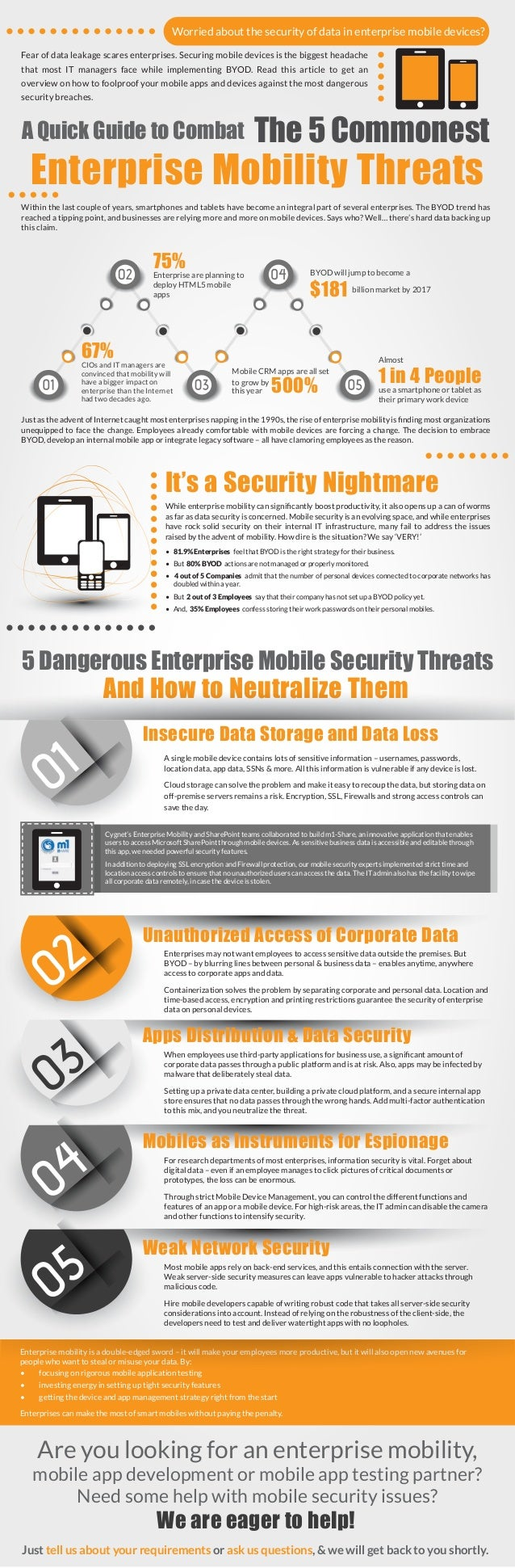 5 Sure-Fire Ways to Tighten the Screws on Enterprise Mobile Security