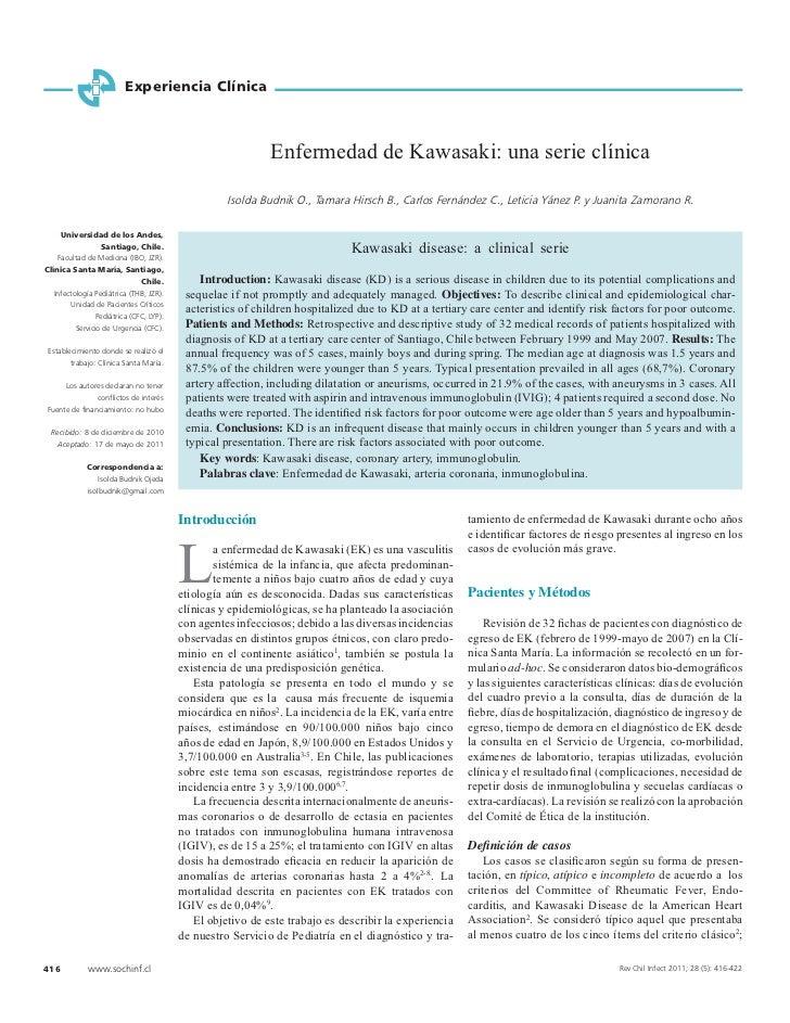 Experiencia Clínica                                                             Enfermedad de Kawasaki: una serie clínica ...