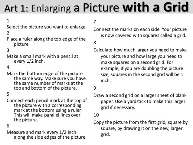 Art1 enlarging a picture with a grid