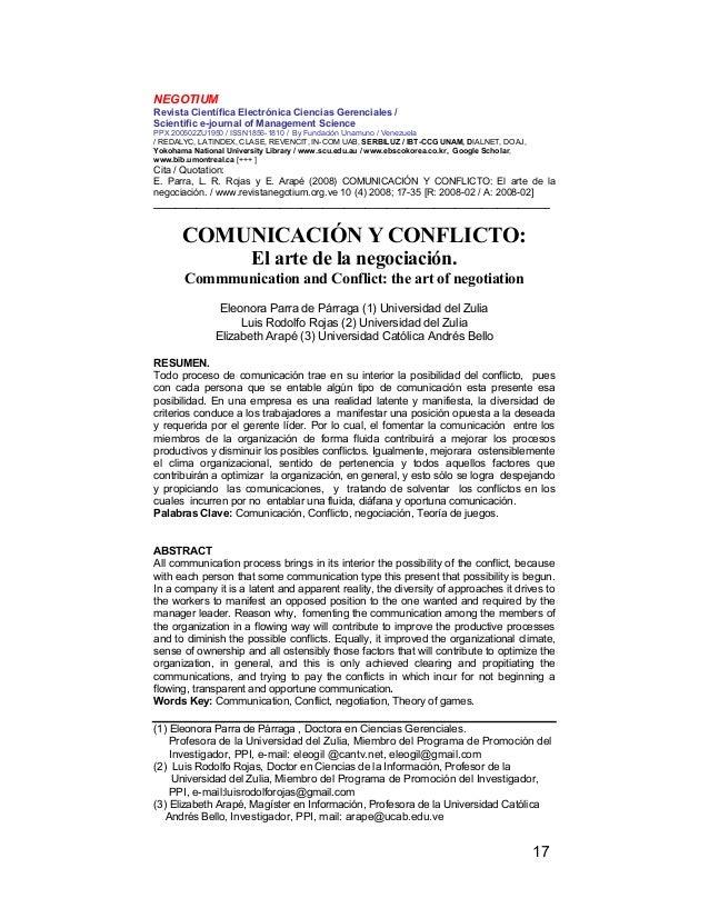 NEGOTIUM Revista Científica Electrónica Ciencias Gerenciales / Scientific e-journal of Management Science PPX 200502ZU1950...