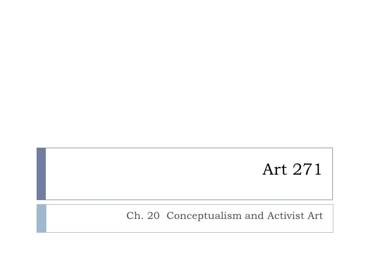 Art 271 Conceptualism And Feminism