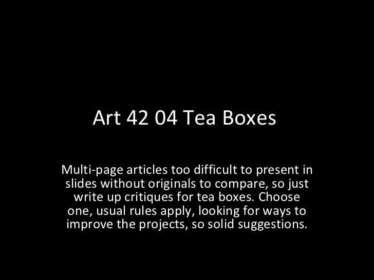 Art 42 04 critique, F2011