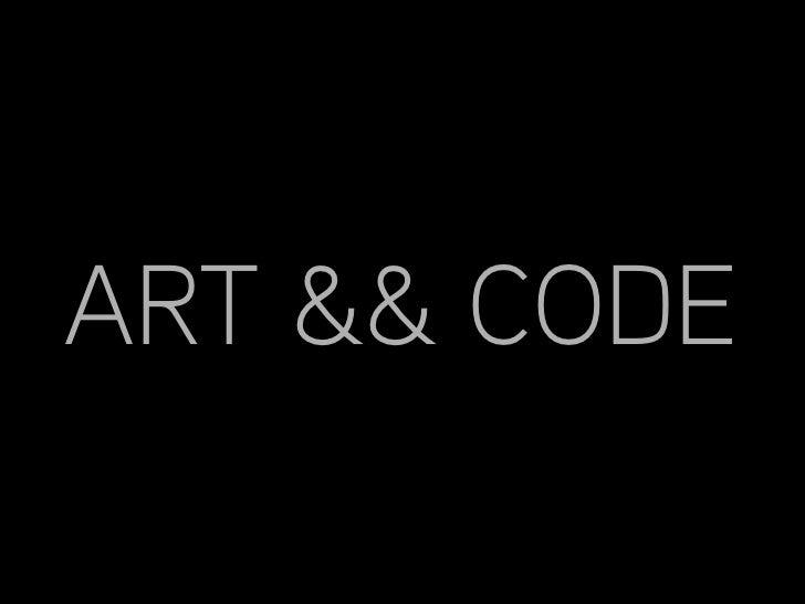 ART && CODE