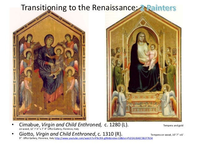 comparing medieval and renaissance paintings Renaissance vs medieval art lesson ppt 1 how did characteristics of northern renaissance art contained great detail more landscape and nature paintings medieval vs renaissance architecture gothic.