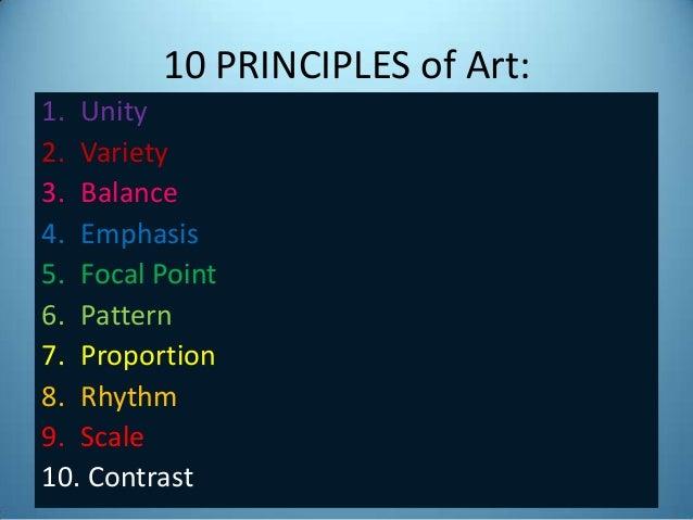 10 Elements Of Art : Art appreciation principles of unity variety