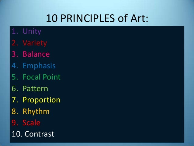 Contrast Element Of Art : Art appreciation principles elements of focal point
