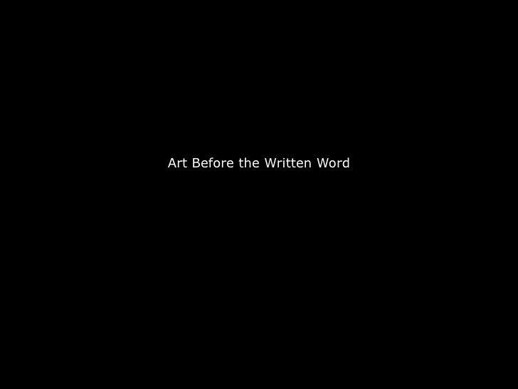 Artbeforethewrittenword