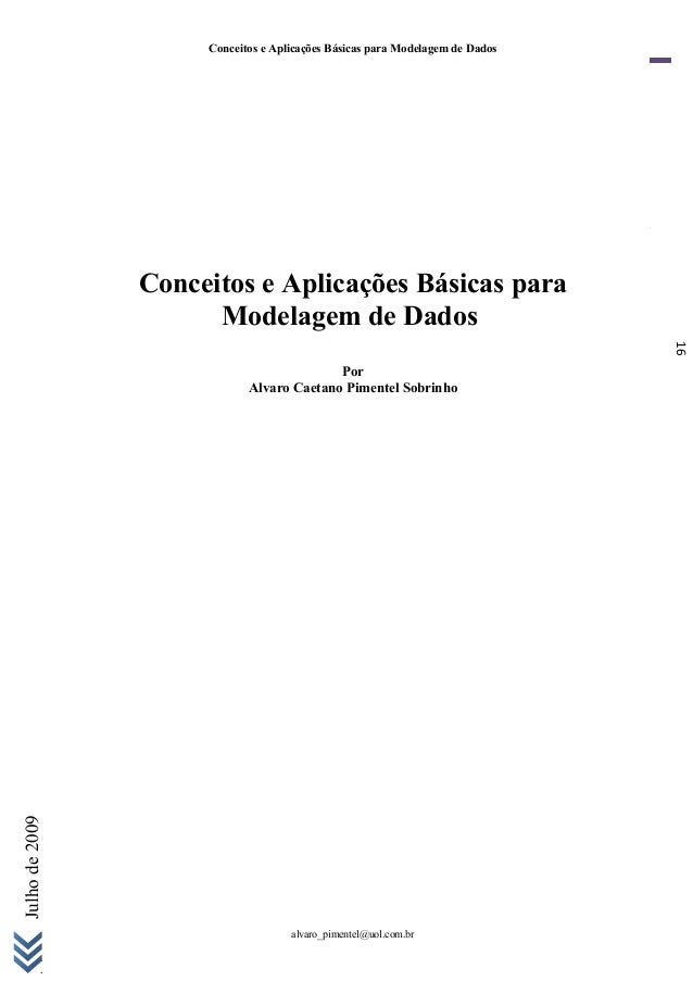 16 Julhode2009 Conceitos e Aplicações Básicas para Modelagem de Dados Conceitos e Aplicações Básicas para Modelagem de Dad...