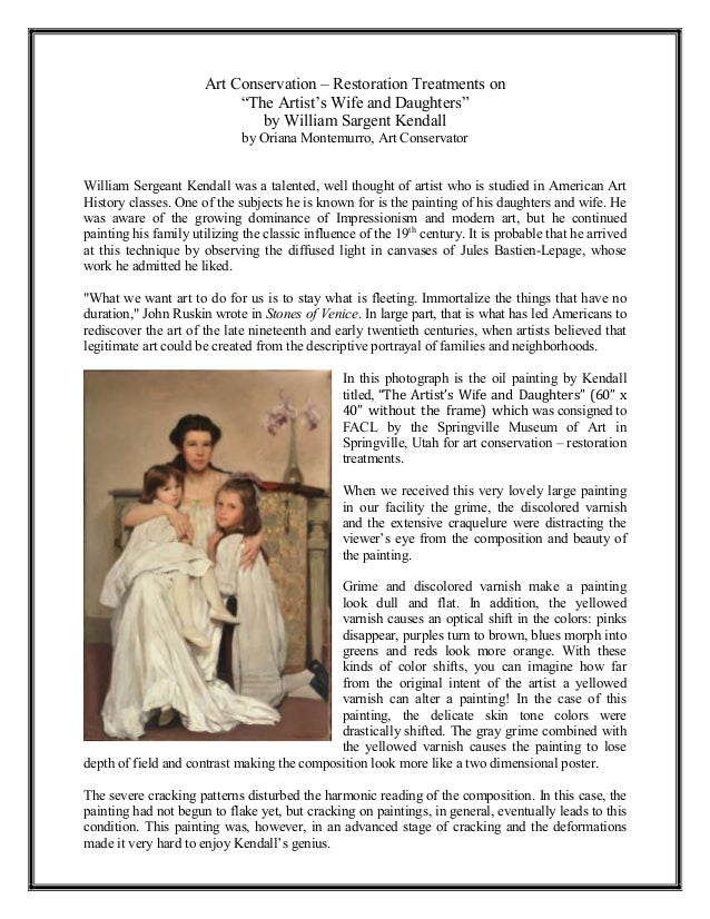 Art Conservation – Restoration Treatments