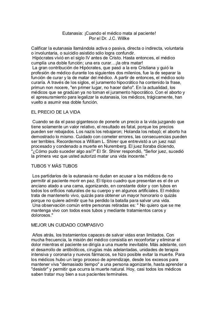 Artículo Sobre Eutanasia