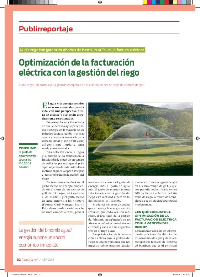 32 / ABR 2013El agua y la energía son dosrecursos esenciales para lavida, con una perspectiva futu-ra de escasez y que est...