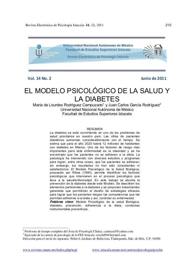 Revista Electrónica de Psicología Iztacala. 14, (2), 2011                                                  210            ...
