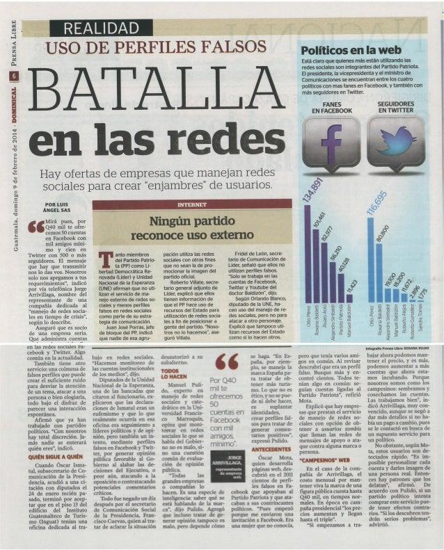 La batalla política de #Guatemala en las redes sociales