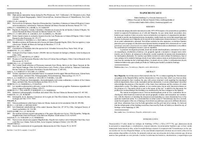 Artículo mapocho incaico mnhn