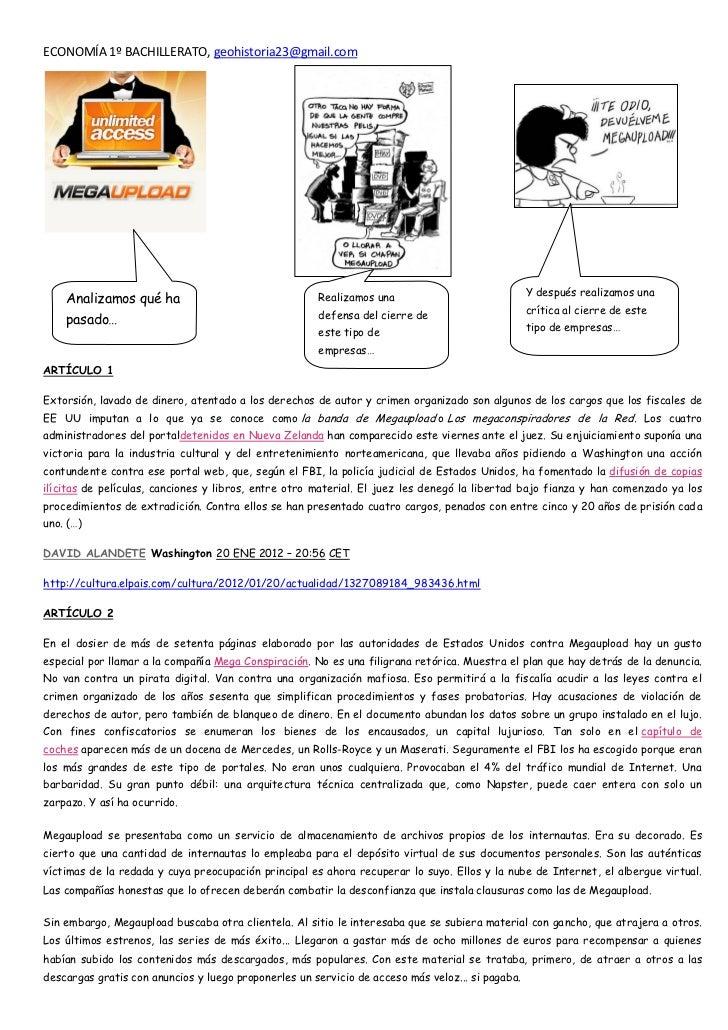 ECONOMÍA 1º BACHILLERATO, geohistoria23@gmail.com                                                                         ...