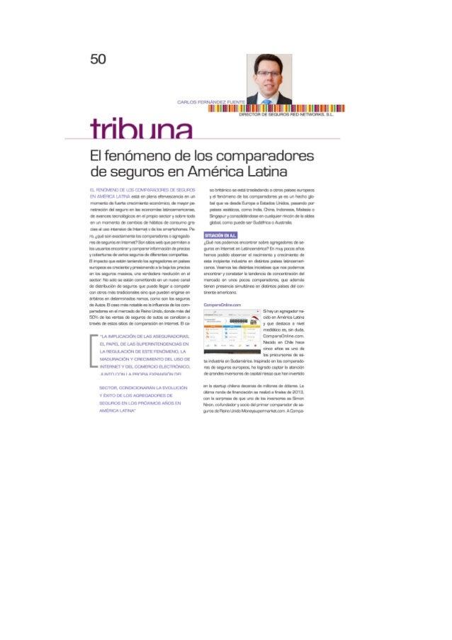 Artículo sobre el fenomeno de los comparadores en actualidad aseguradora américa latina