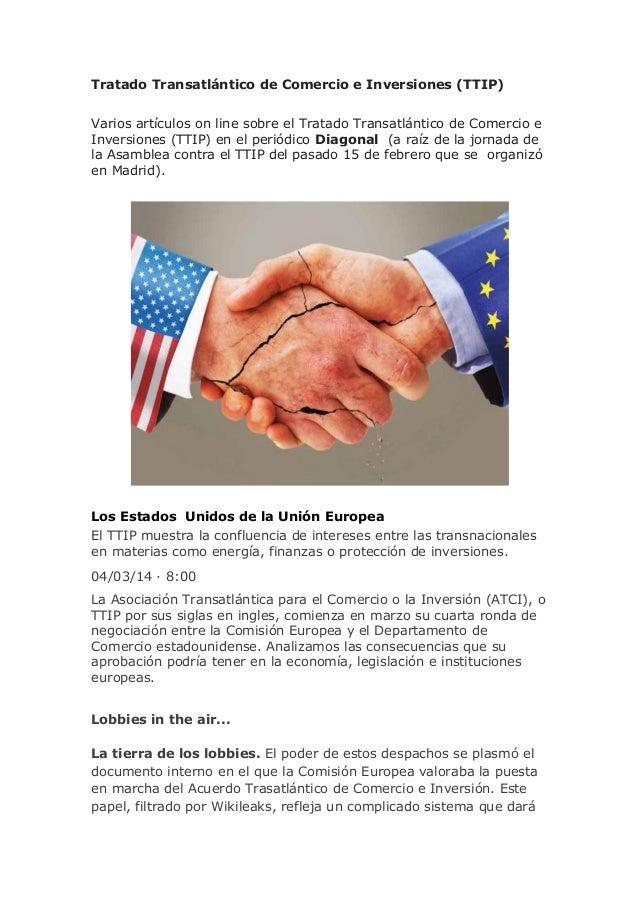 Tratado Transatlántico de Comercio e Inversiones (TTIP)