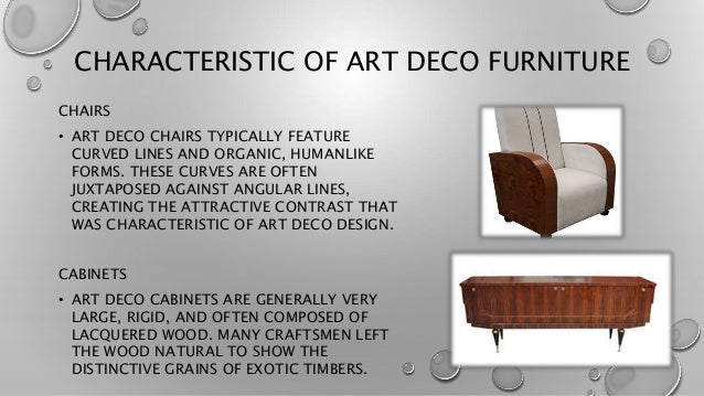 Characteristics Of Line In Art : Art deco