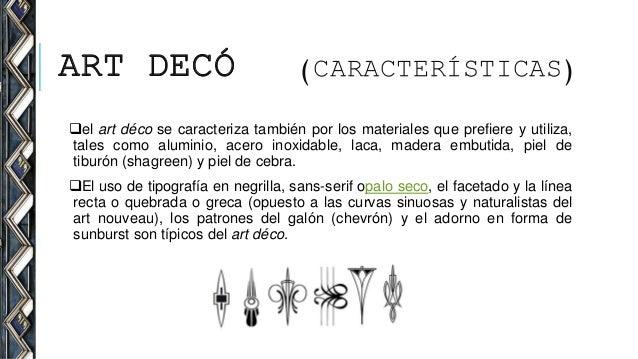 Art deco - Art deco caracteristicas ...