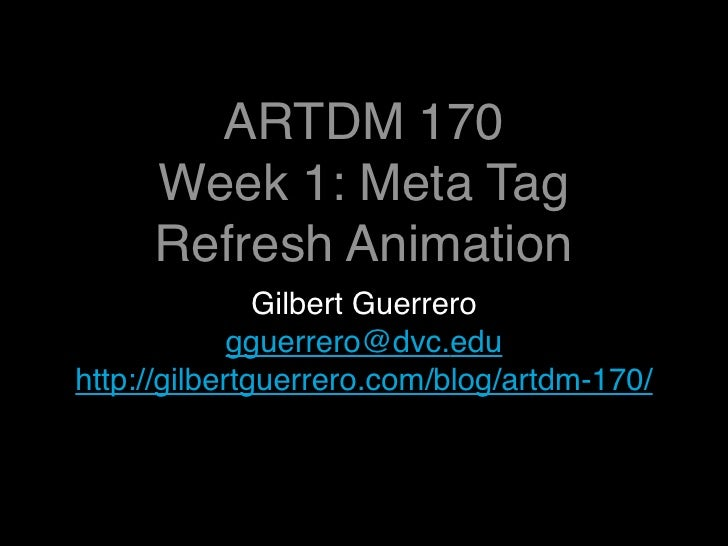 ARTDM 170, Week 1: Introduction