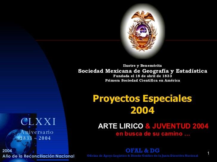 ARTE LIRICO & JUVENTUD 2004